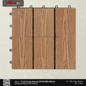 Vỉ nhựa Awood DT03-WG-Wood