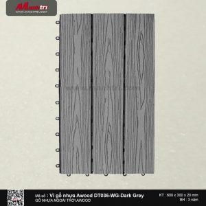 Vỉ nhựa Awood DT036-WG-Dark Grey