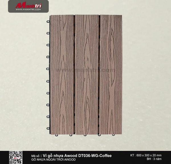 Vỉ nhựa Awood DT036-WG-Coffee