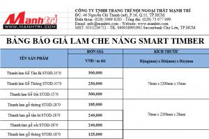 Bảng báo giá Smarttimber