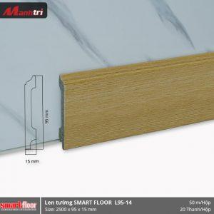 Len chân tường nhựa sàn gỗ L95-14