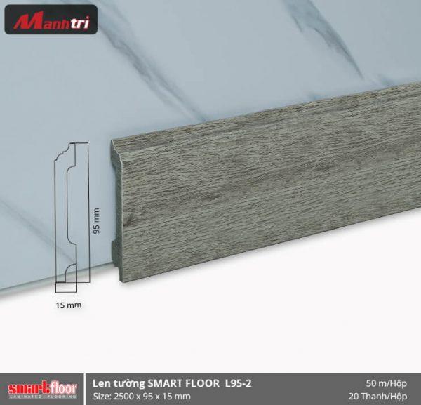 Len chân tường nhựa sàn gỗ L95-2