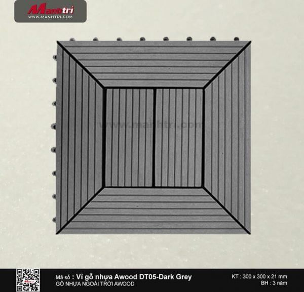 Vỉ nhựa Awood DT05-Dark Grey