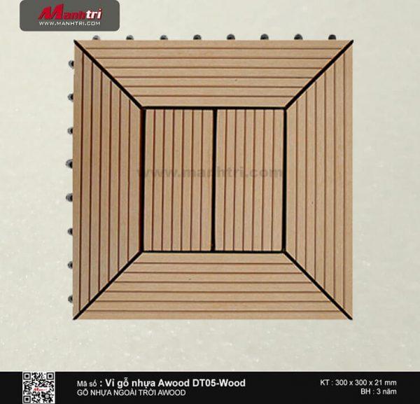 Vỉ nhựa Awood DT05-Wood