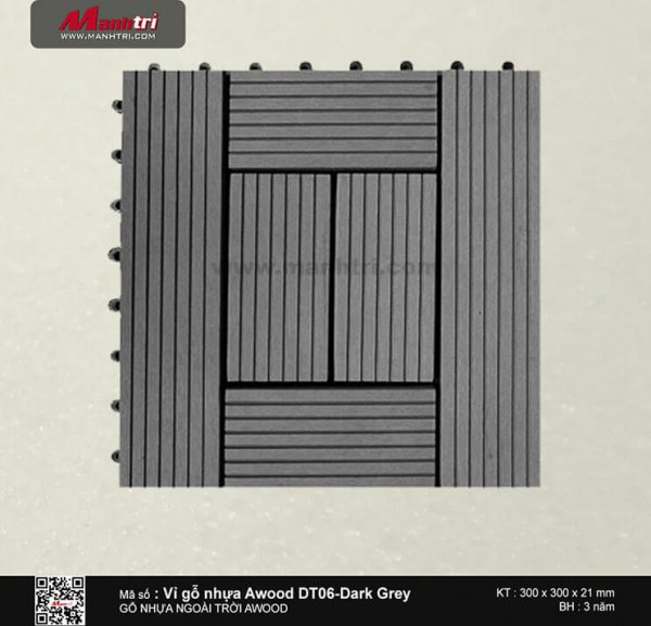 Vỉ nhựa Awood DT06-Dark Grey