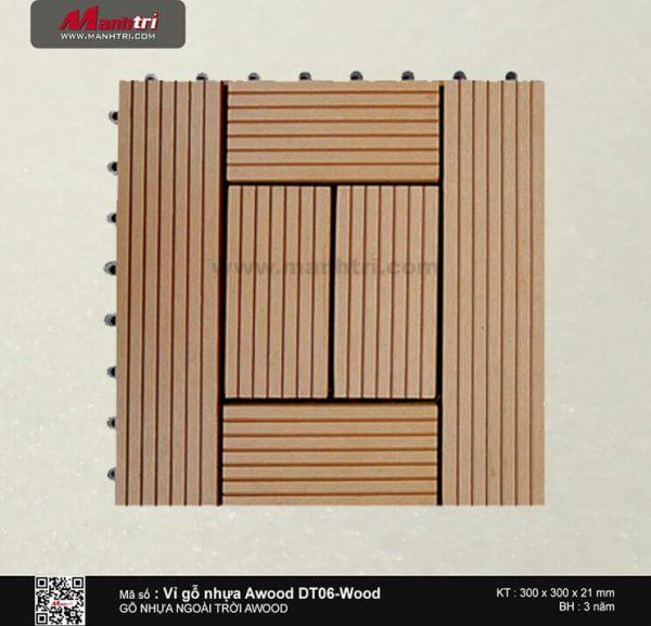 Vỉ nhựa Awood DT06-Wood