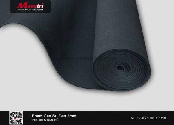 Xốp cao su đen 2mm