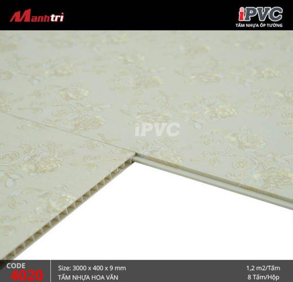 Tấm nhựa iPVC mã 4020 C