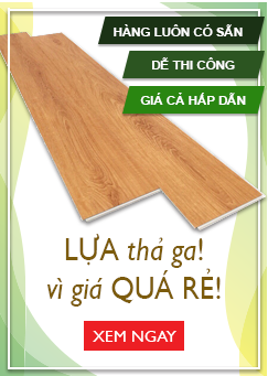 Banner menu sàn nhựa dán keo