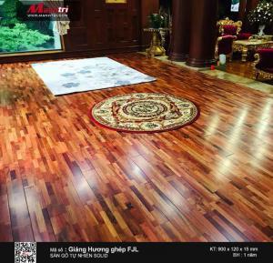 thi công sàn gỗ tự nhiên giáng hương ghép FJL