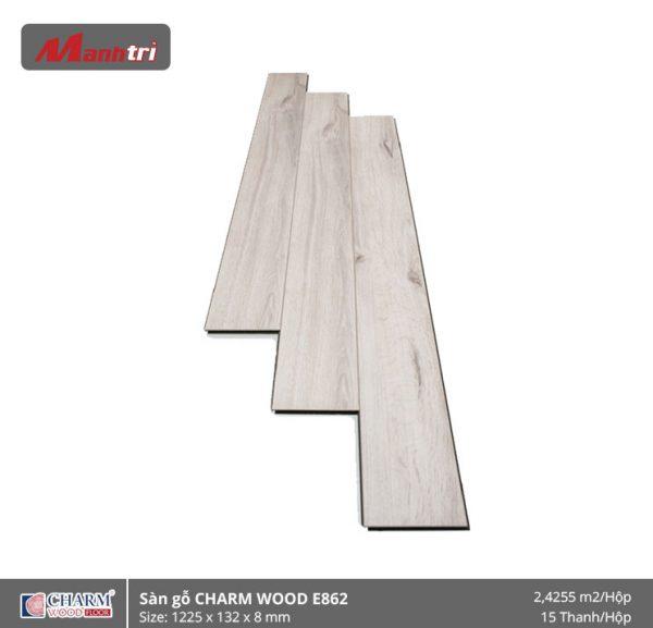 Sàn gỗ công nghiệp Charm Wood E862 hình 1