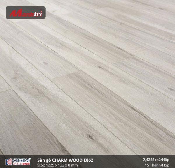 Sàn gỗ công nghiệp Charm Wood E862 hình 2