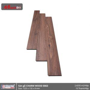 Sàn gỗ công nghiệp Charm Wood E863 hình 1