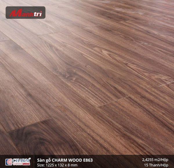 Sàn gỗ công nghiệp Charm Wood E863 hình 2