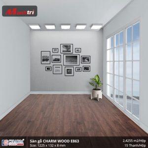 Sàn gỗ công nghiệp Charm Wood E863 hình 3