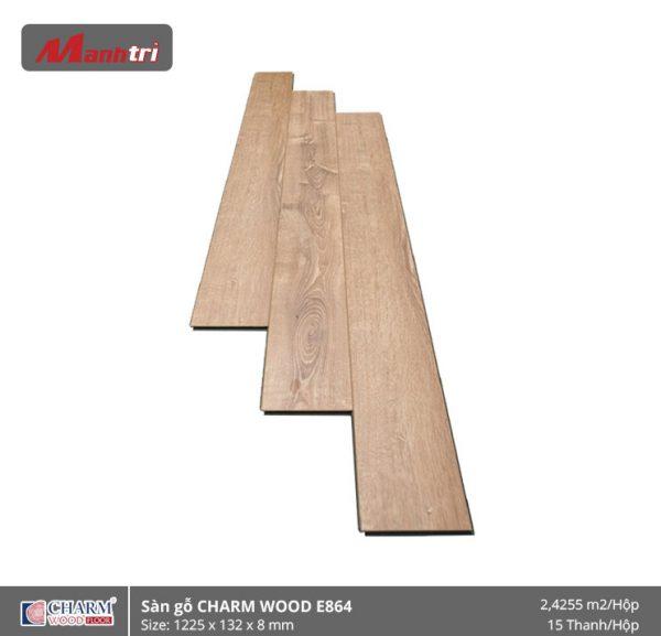 Sàn gỗ công nghiệp Charm Wood E864 hình 1