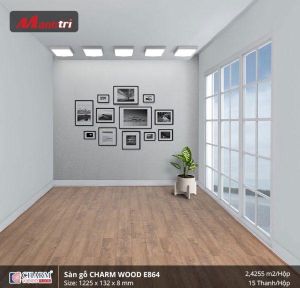 Sàn gỗ công nghiệp Charm Wood E864 hình 3