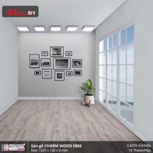 Sàn gỗ công nghiệp Charm Wood E866 hình 3