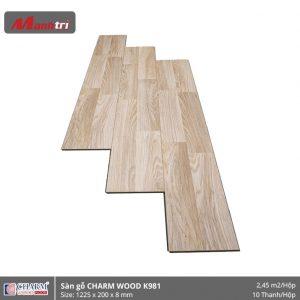 Sàn gỗ công nghiệp Charm Wood K981 hình 1
