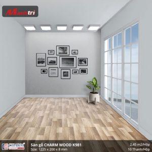 Sàn gỗ công nghiệp Charm Wood K981 hình 2