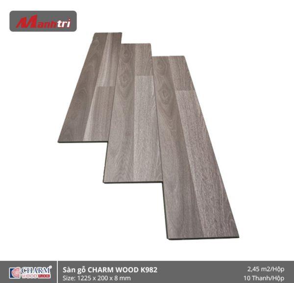 Sàn gỗ công nghiệp Charm Wood K982 hình 1
