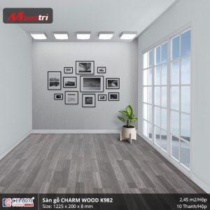 Sàn gỗ công nghiệp Charm Wood K982 hình 2