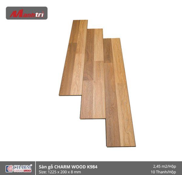 Sàn gỗ công nghiệp Charm Wood K984 hình 1