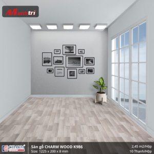 Sàn gỗ công nghiệp Charm Wood K986 hình 2