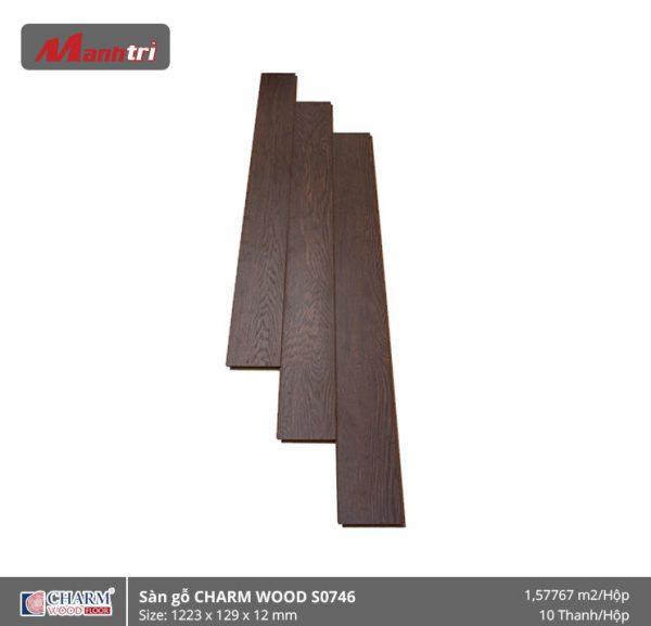 Sàn gỗ công nghiệp Charm Wood S0746 hình 1