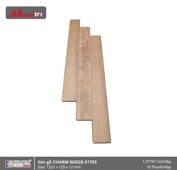 Sàn gỗ công nghiệp Charm Wood S1703 hình 1