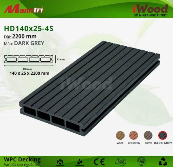 iwood HD140x25-darkgrey hình 1