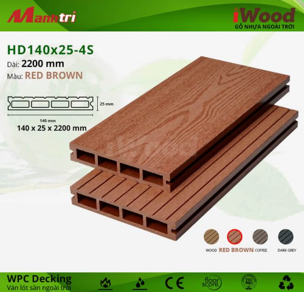 iwood HD140x25-redbrown hình 2
