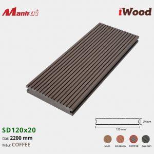 lót sàn iWood SD120x20 Coffee hình 1