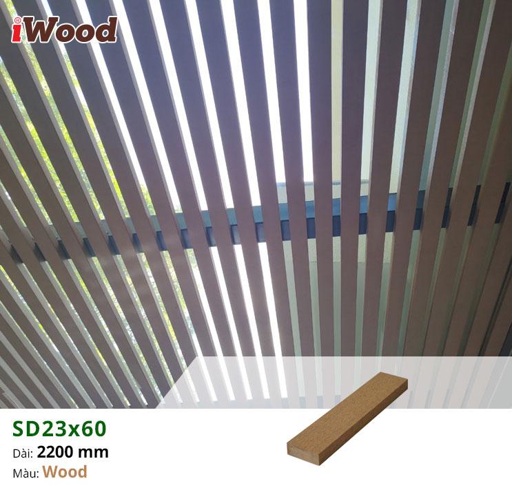 Thanh lam gỗ iWood 23x60-Wood 2