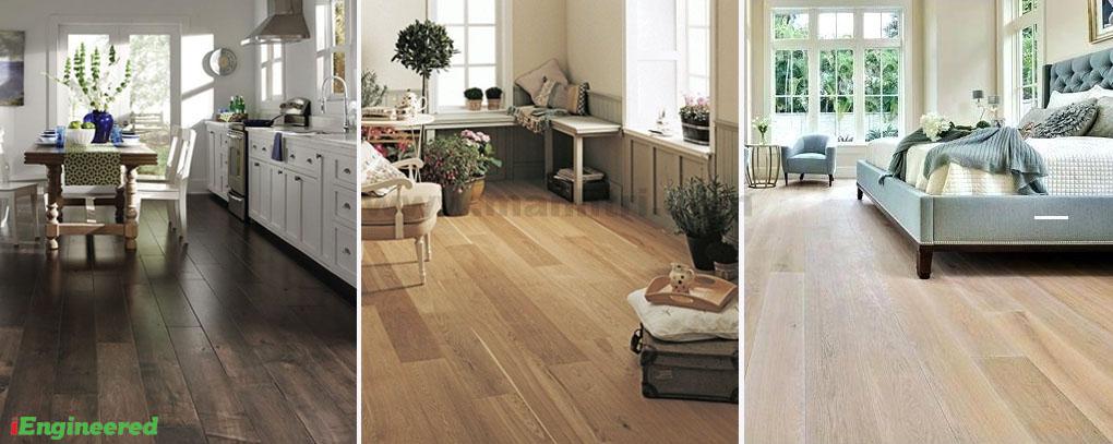 không gian lắp đặt sàn gỗ kỹ thuật engineer