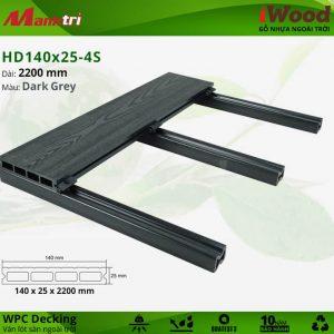 Lót sàn HD 140 x 25 4S DarkGrey