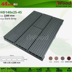 iWood HD 140 x 25 4S DarkGrey