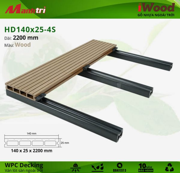 Lót sàn HD 140 x 25 4S Wood