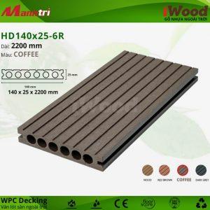 lót sàn iWood HD140x25-6R-Coffee-hình 1