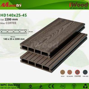 Lót sàn iWood HD140 25 Coffee