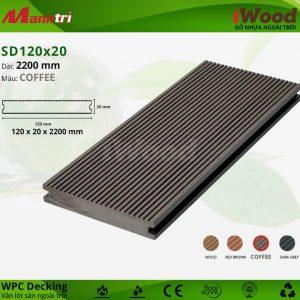 lót sàn iWood SD120x20-Coffee hình 1
