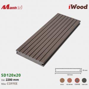 lót sàn iWood SD120x20 Coffee hình 3