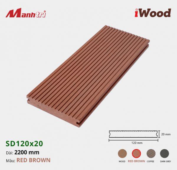 lót sàn iWood SD120x20 redbrown hình 1