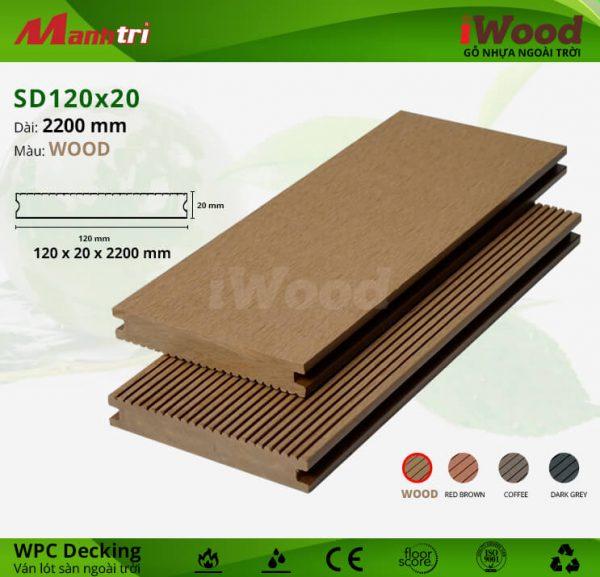 lót sàn iWood SD120x20-Wood hình 2