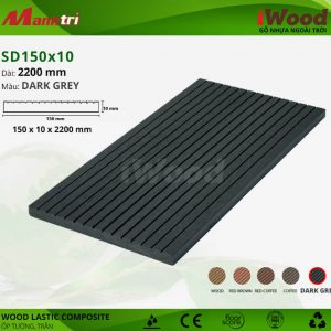 ốp tường iwood SD150x10-Dark Grey hình 1