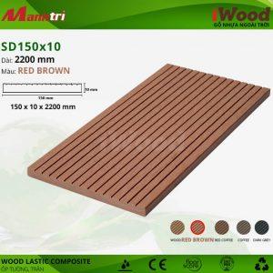 ốp tường iwood SD150x10-Red Browm hình 1