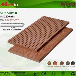 ốp tường iwood SD150x10-Red Browm hình 2