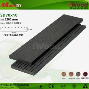 ốp tường iwood SD70x10-Dark grey hình 2