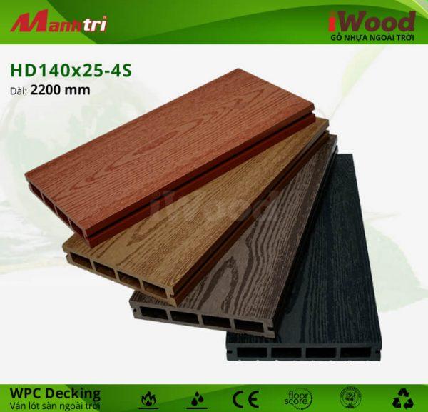 sàn gỗ iwood HD140x25-4s hình 2