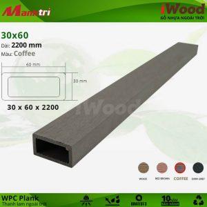 Thanh lam gỗ iWood 30x60-Coffee